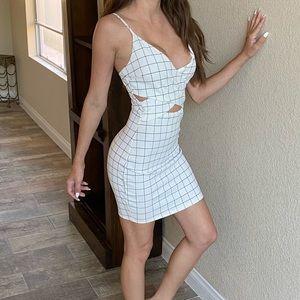Black and white cut out dress fashion nova